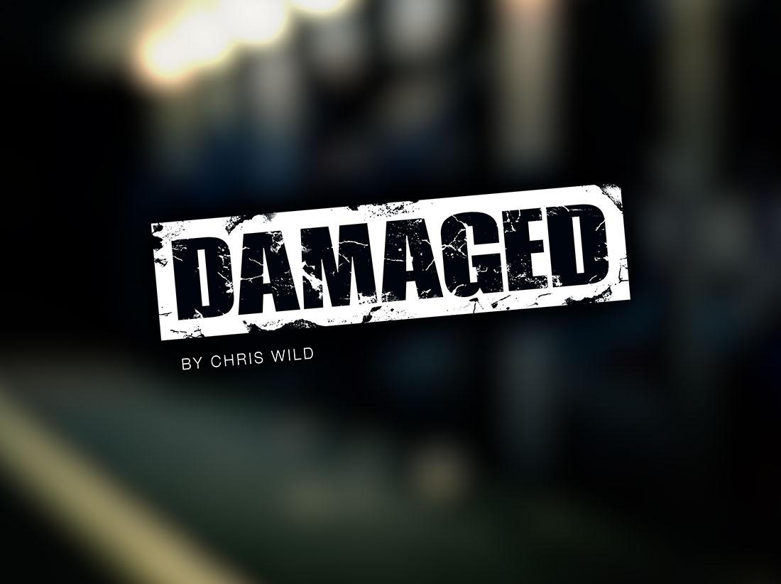 Damaged logo design