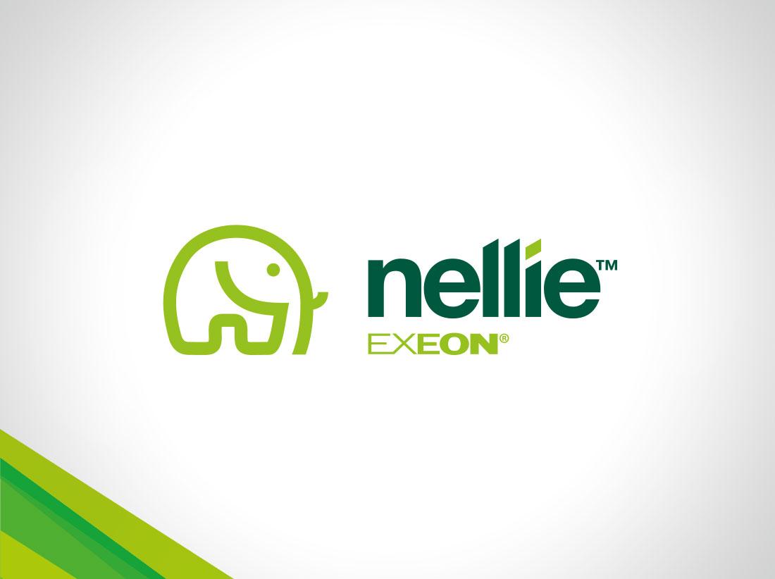 Nellie logo design