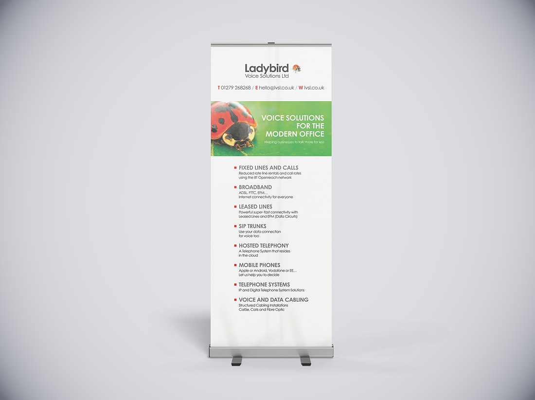 Pop-up banners design