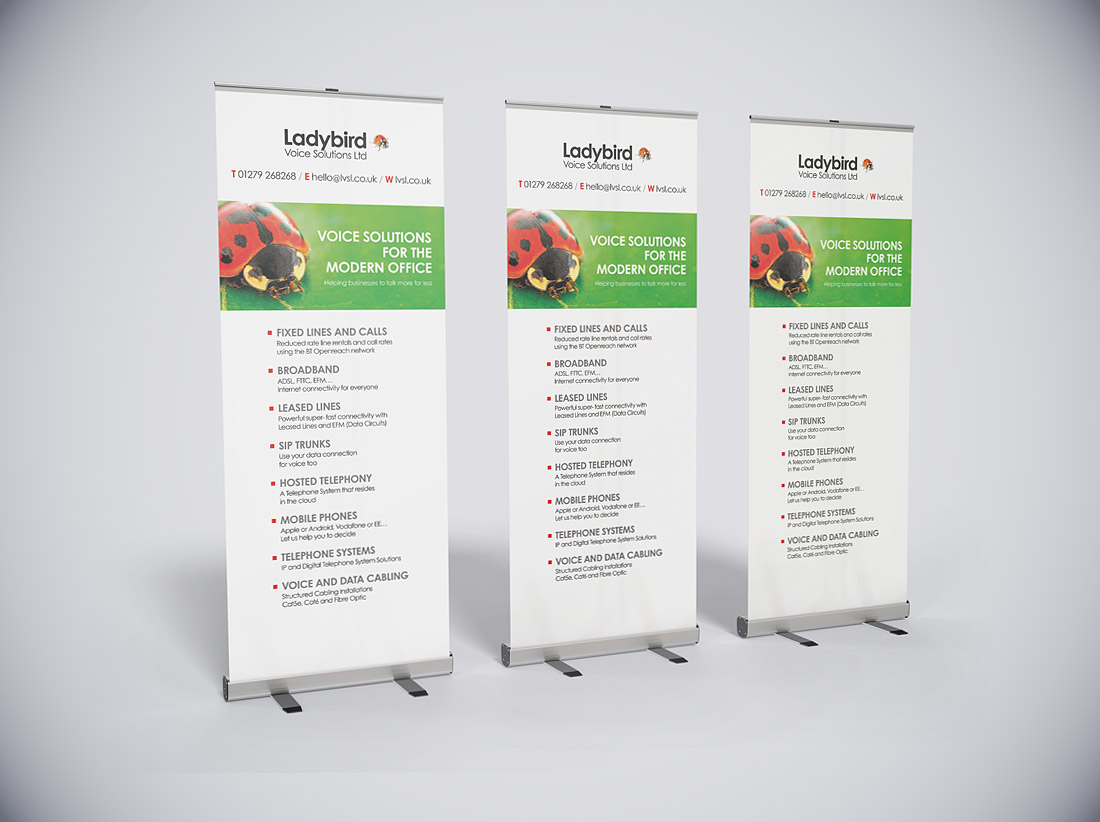 Pop-up banners print and production